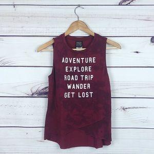 MODERLUX Adventure Explore wanderer tie dye tank S